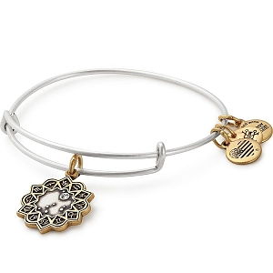 Capricorn Two Tone Charm Bangle