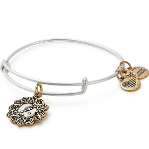 Taurus Two Tone Charm Bangle