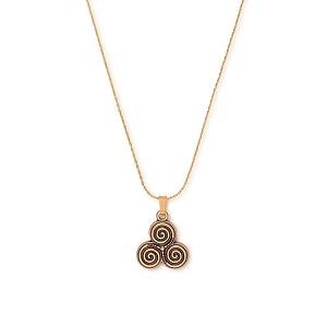 Triskelion Charm Expandable Necklace Rafaelian Gold