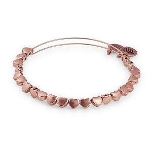 Heart Beaded Bangle Rafaelian Rose Gold