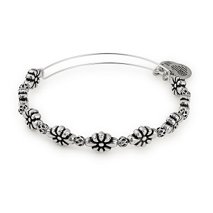 Blossom Beaded Bangle Rafaelian Silver
