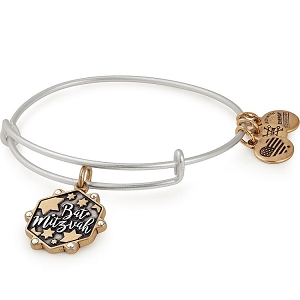 Bat Mitzvah Two Tone Charm Bangle