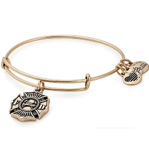 Firefighter Charm Bangle Gold