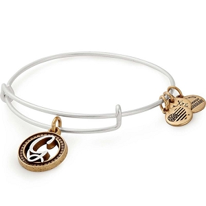 Initial G Two Tone Charm Bangle