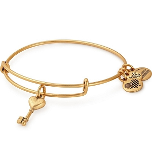 Key to Love Charm Bangle Rafaelian Gold