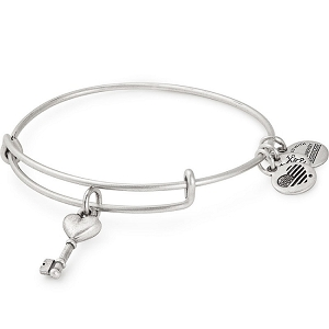 Key to Love Charm Bangle Rafaelian Silver
