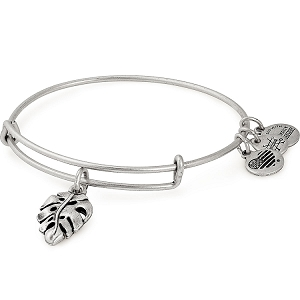 Palm Leaf Charm Bangle Rafaelian Silver