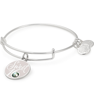 Sweet 16 Charm Bangle Shiny Silver