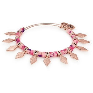 Coral Spearhead Beaded Bangle