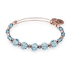Brook Beaded Bangle with Swarovski Crystals Shiny Rose Gold