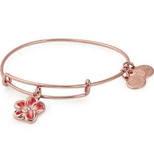 Tropical Flower Color Infusion Charm Bangle Rose Gold