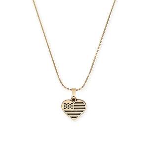 Heart Flag Charm Necklace Rafaelian Gold