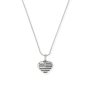 Heart Flag Charm Necklace Rafaelian Silver