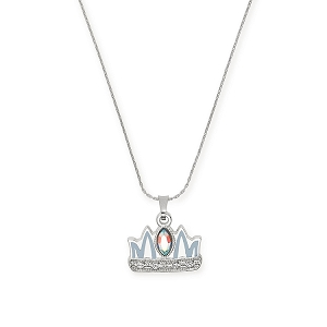 Queen Mom Expandable Necklace Shiny Silver Finish
