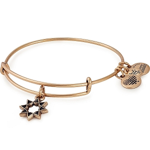 Eight Pointed Star Charm Bangle Rafaelian Gold