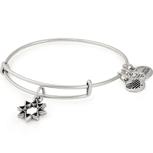 Eight Pointed Star Charm Bangle Rafaelian Silver