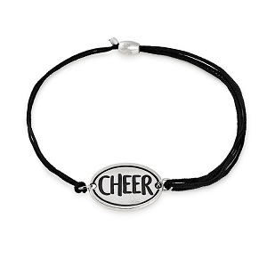 Cheerleader Cheer  Pull Cord Bracelet Sterling Silver