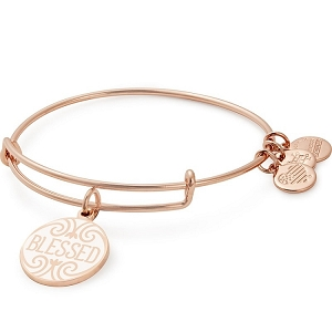 Blessed Charm Bangle Shiny Rose Gold Finish