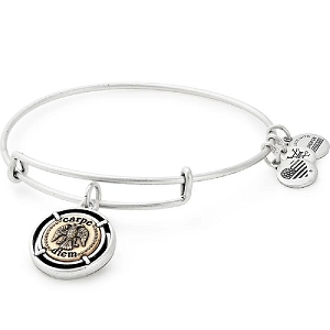 Carpe Diem Charm Bangle Two Tone