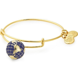 Globe Charm Bangle Shiny Gold