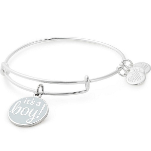 It's a Boy Charm Bangle Shiny Silver