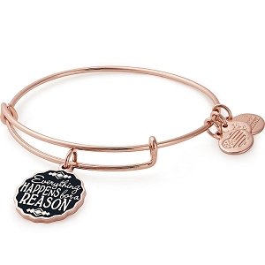 Everything Happens For A Reason Charm Bangle Shiny Rose Gold