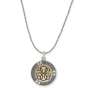 Path of Life Adjustable Necklace Two Tone
