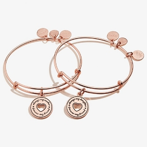 Always Mine Set Of 2 Mother and Daughter Shiny Rose Gold