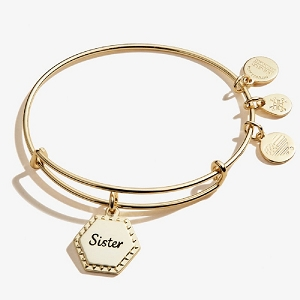 Because I Love You Sister Shiny Antique Gold