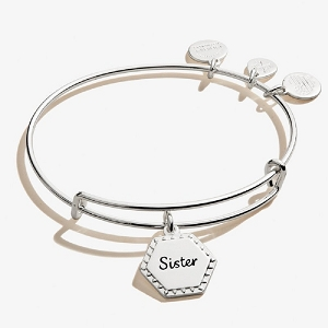 Because I Love You Sister Shiny Antique Silver