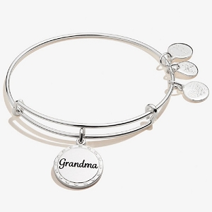 Because I Love You Grandma Charm Bangle Shiny Silver