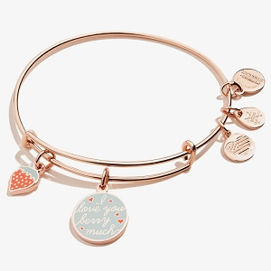 I Love you Berry Much Bangle Shiny Rose Gold
