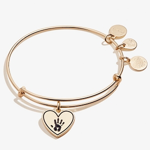 Forever Touched My Heart Bangle Shiny Antique Gold