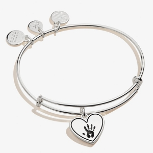 Forever Touched My Heart Bangle Shiny Antique Silver