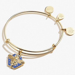 Honey Bee Color Infusion Charm Bangle Shiny Gold