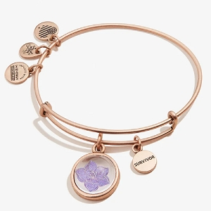 Wildflower and Survivor Mantra Duo Rafaelian Rose Gold