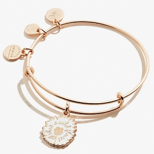She's a Wildflower Color Infusion Charm Bangle Shiny Rose Gold