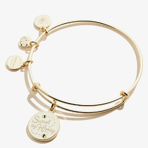 Sweet as Honey Color Infusion Charm Bangle Shiny Gold