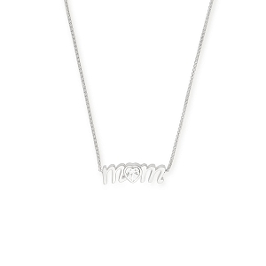 Mom Adjustable Necklace Sterling Silver