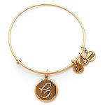 Initial C Bangle Rafaelian Gold