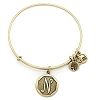 Initial N Bangle Rafaelian Gold