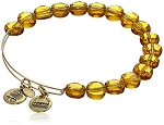 Luxe Bead Bangle Dark Topaz Yellow Gold