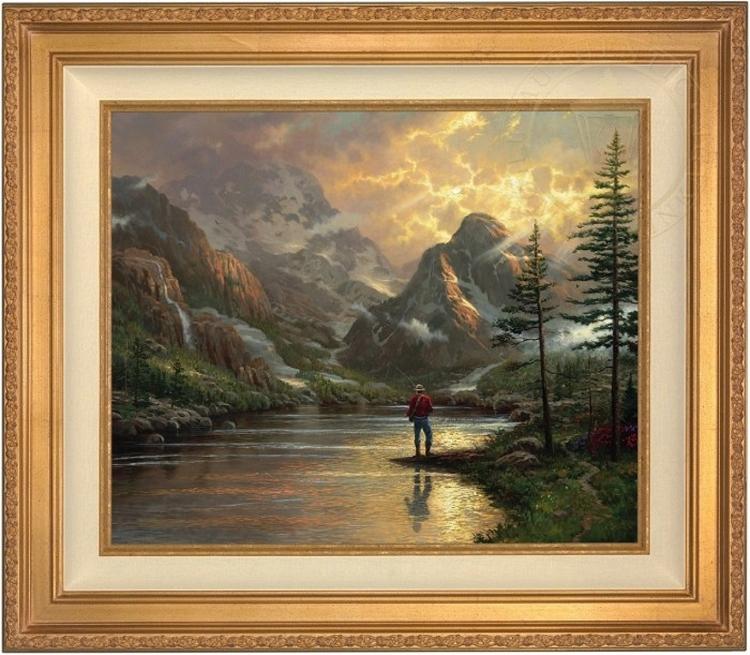 Thomas Kinkade Almost Heaven 24 X 30 Canvas Framed