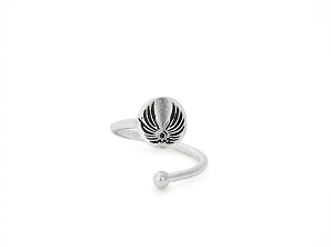 Guardian Angel Ring Wrap Silver
