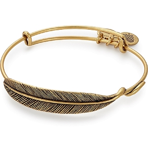 Quill Feather Bangle Rafaelian Gold