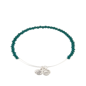 Color Beaded Green Rafaelian Silver