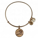 University of New Hampshire Logo Charm Bangle Rafaelian Gold