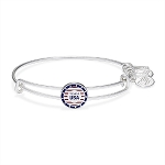 Team USA Slider Charm Bangle Shiny Silver