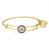 Team USA Slider Charm Bangle Yellow Gold