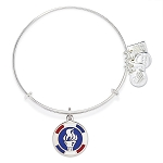 Team USA Flame Charm Bangle Rafaelian Silver